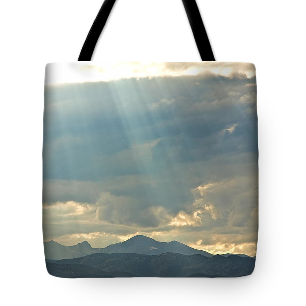 Light Tote Bag featuring the photograph Shining Down by James BO Insogna