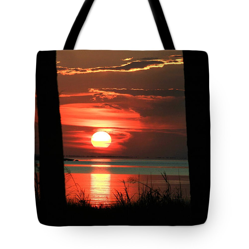 Sunset Tote Bag featuring the photograph Shining Through by Marty Fancy