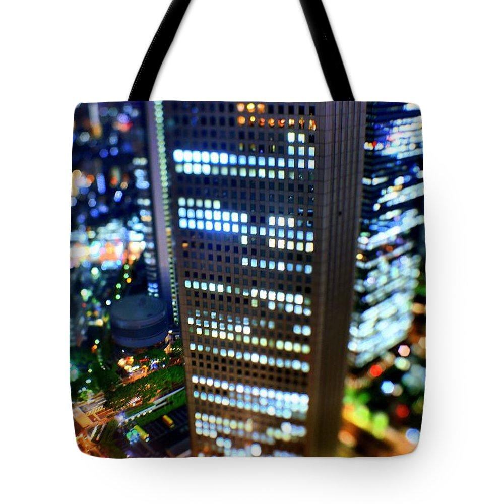 Built Structure Tote Bag featuring the photograph Shinjuku by Takashi Kitajima