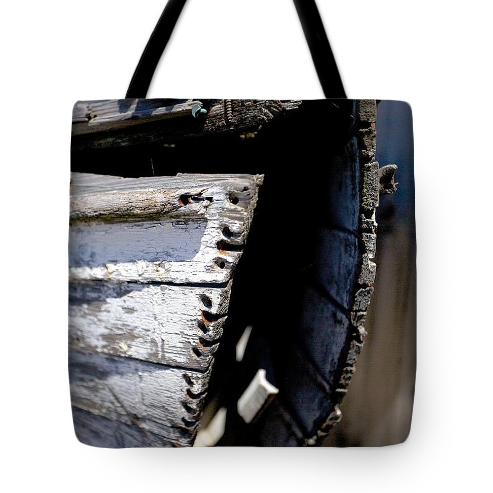 Dingy Tote Bag featuring the photograph Shipwrecked by Allan Morrison