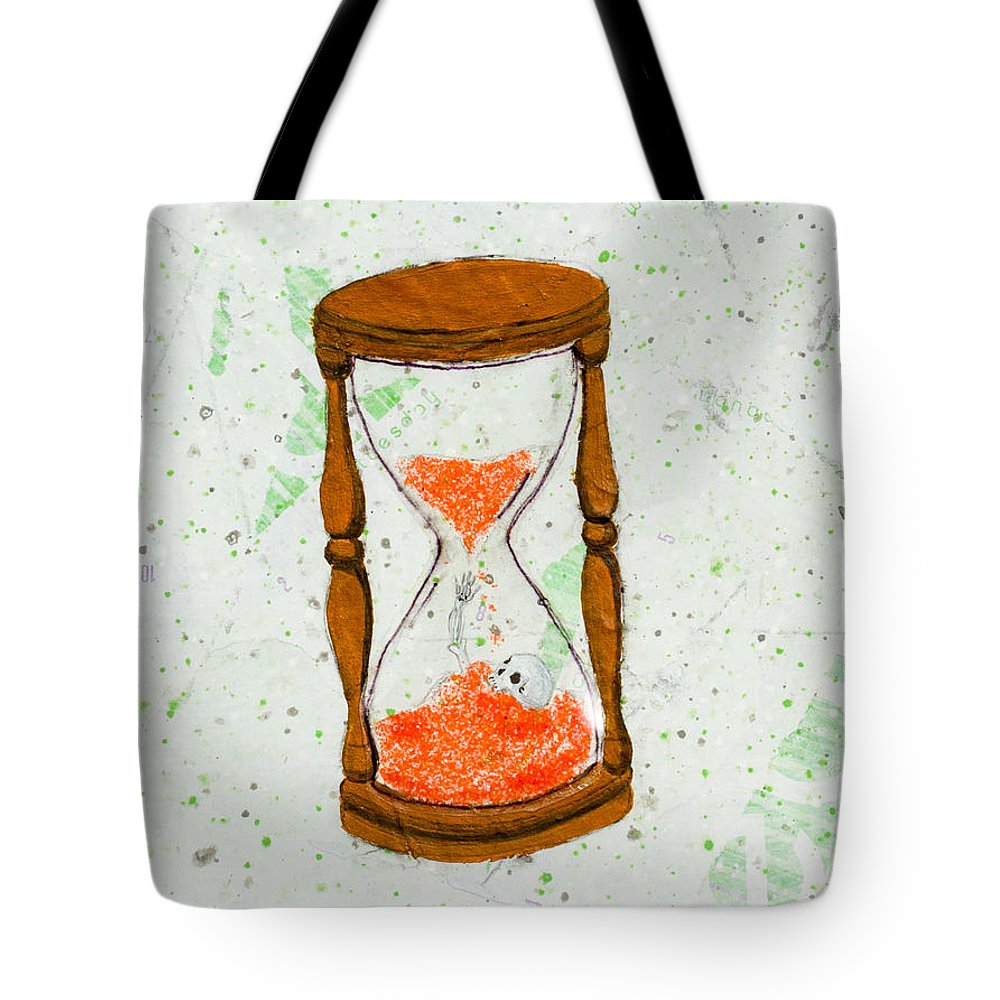 Tote Bag featuring the painting Shitluck by Stefanie Forck