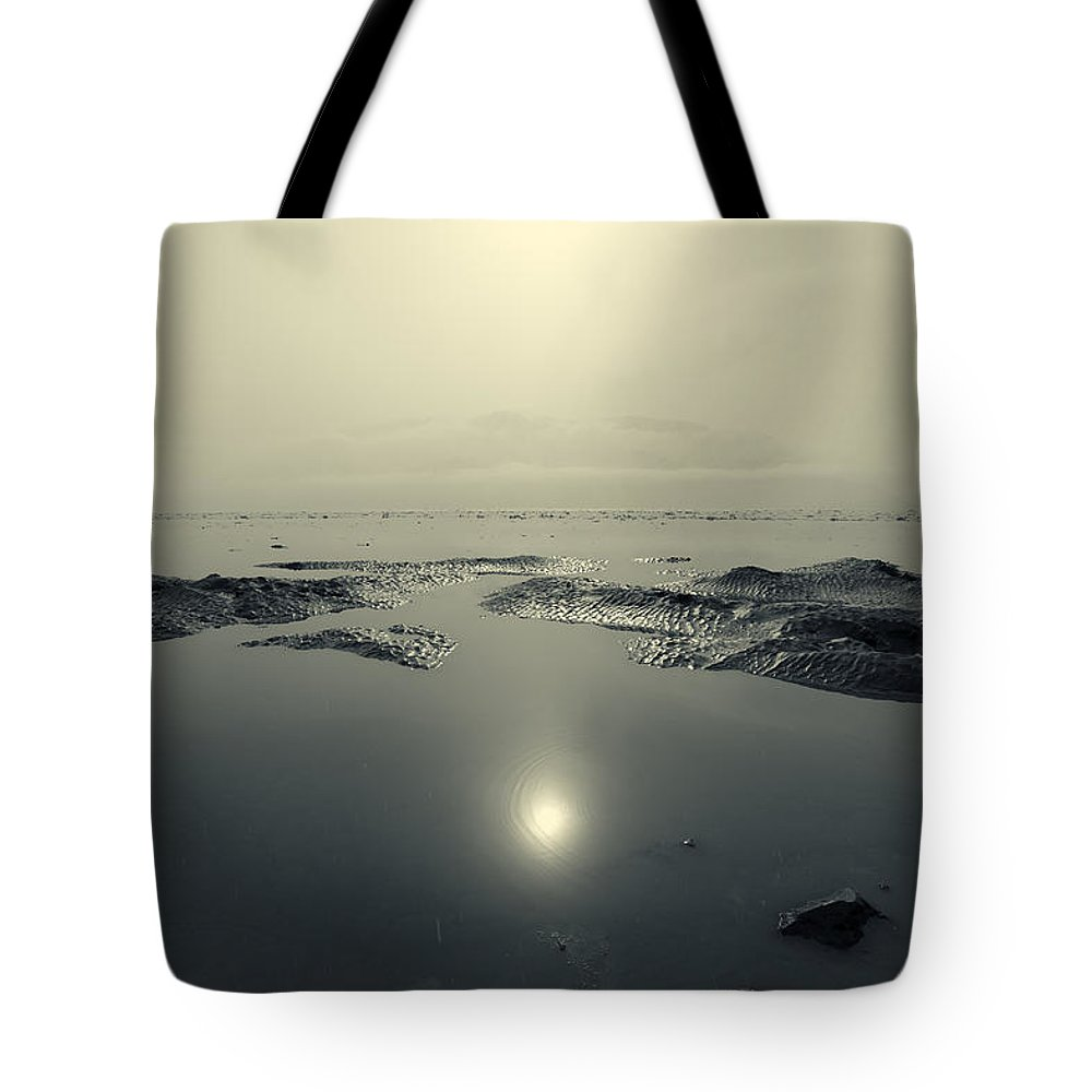 Turnagain Arm Tote Bag featuring the photograph Shock Wave by Ted Raynor