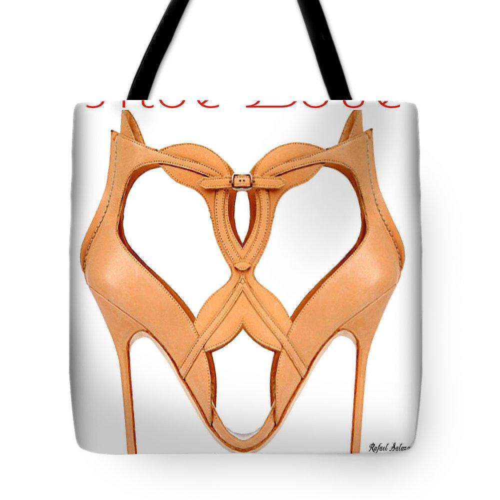 Shoe Love Tote Bag featuring the digital art Shoe Love by Rafael Salazar