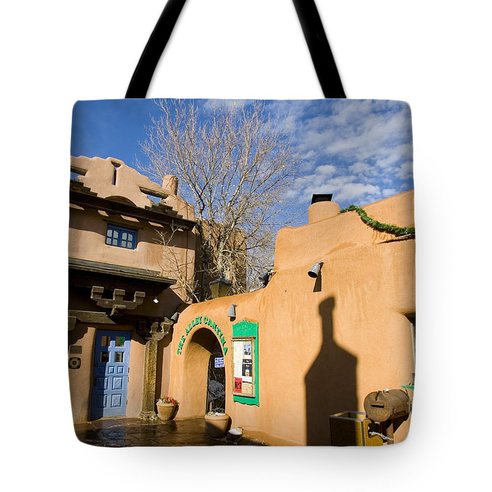 Santa Fe Tote Bag featuring the photograph Shops At Santa Fe New Mexico by Jason O Watson