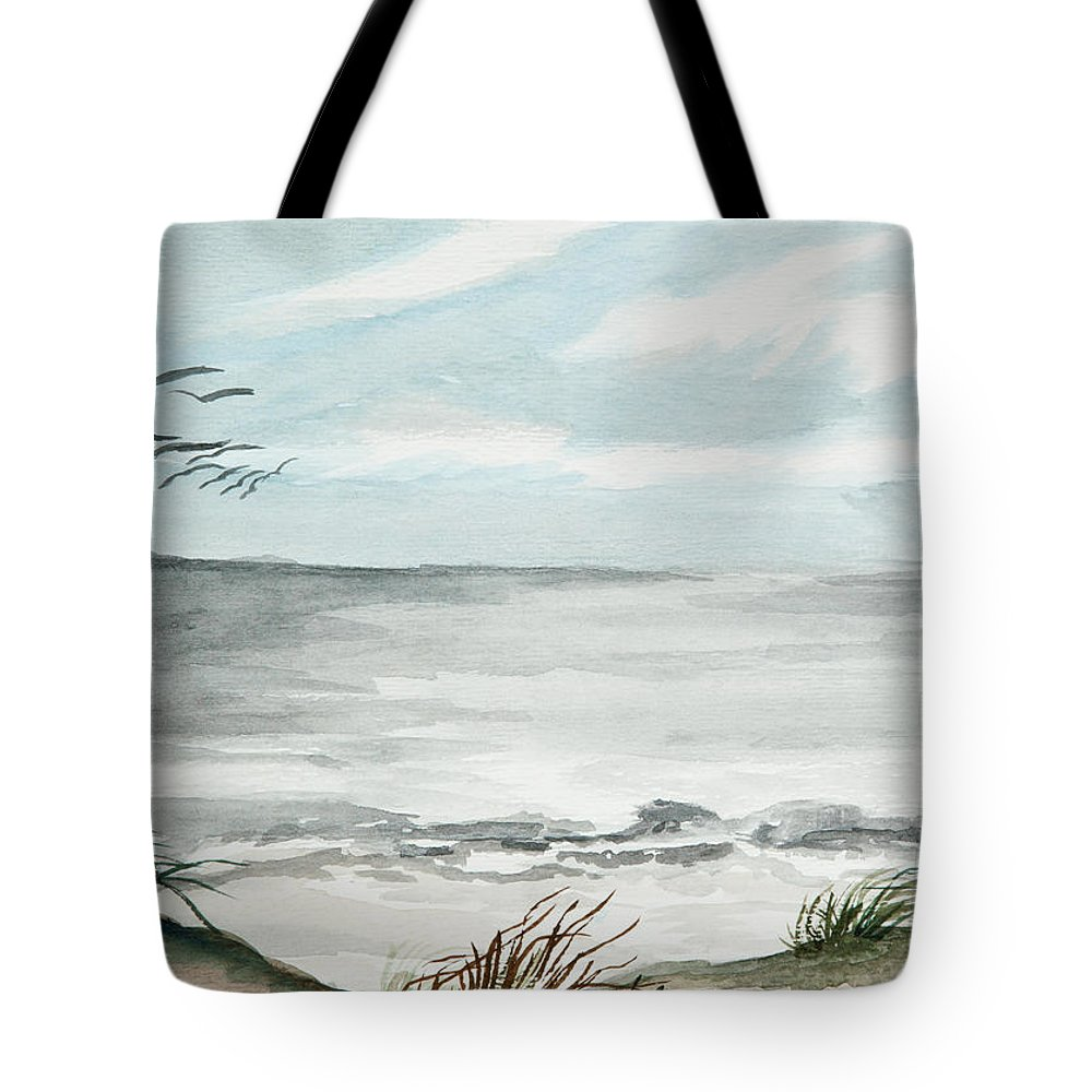 Shore Tote Bag featuring the painting Shore Birds by Michelle Wiarda-Constantine