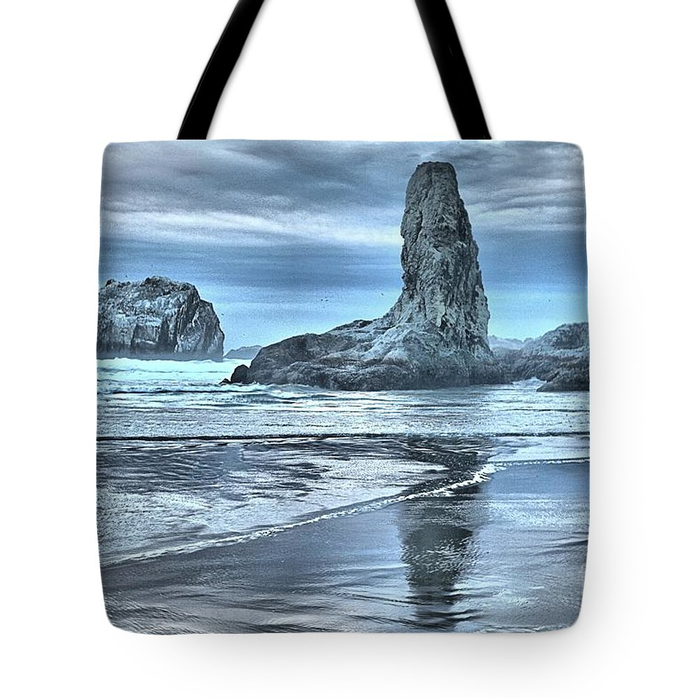 Bandon Beach Tote Bag featuring the photograph Shore Guardians by Adam Jewell