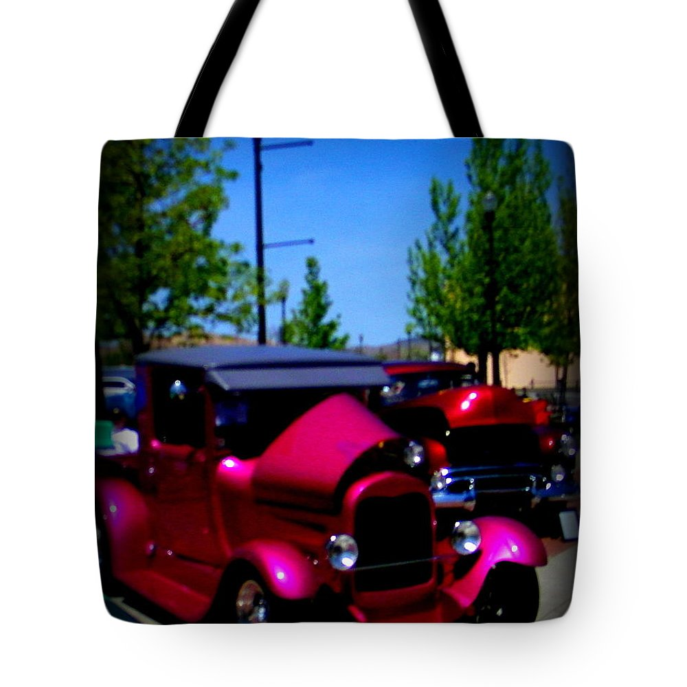 Ford Tote Bag featuring the photograph Show N Shine Jewel by Bobbee Rickard