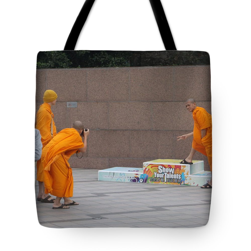 China Tote Bag featuring the photograph Show Your Talents - Hong Kong by Rauno Joks