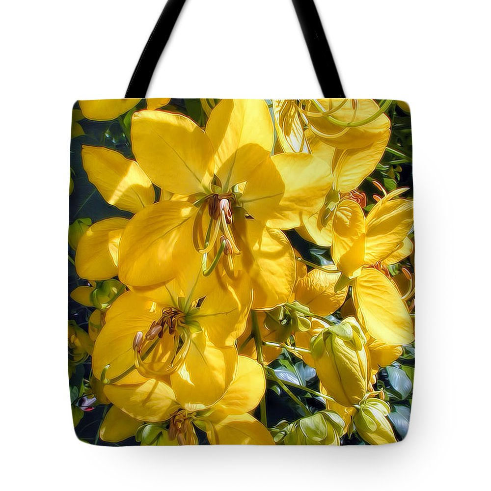 Hawaii Tote Bag featuring the photograph Shower Tree 9 by Dawn Eshelman
