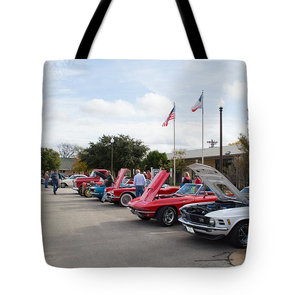 Leander Car Show Tote Bag featuring the photograph Showing The Ride by JG Thompson