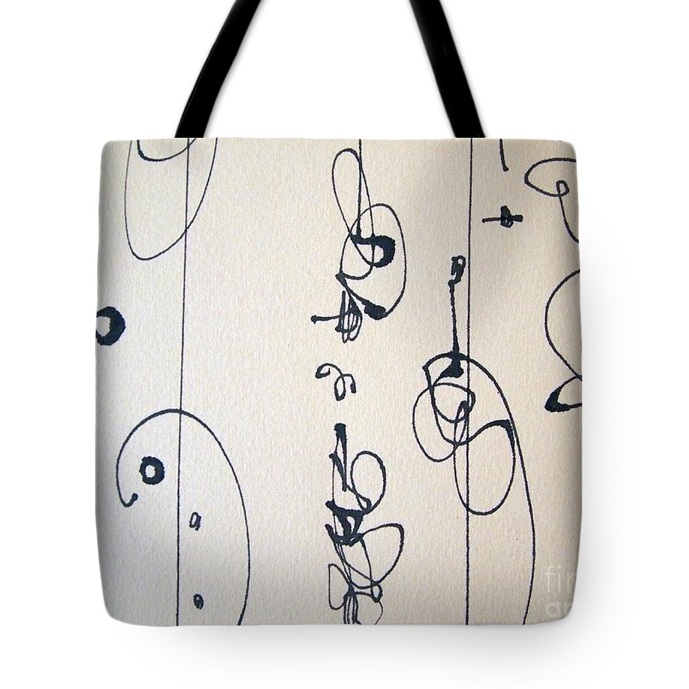 Pen And Ink Drawing Tote Bag featuring the drawing Showtime Closeup 2 by Nancy Kane Chapman