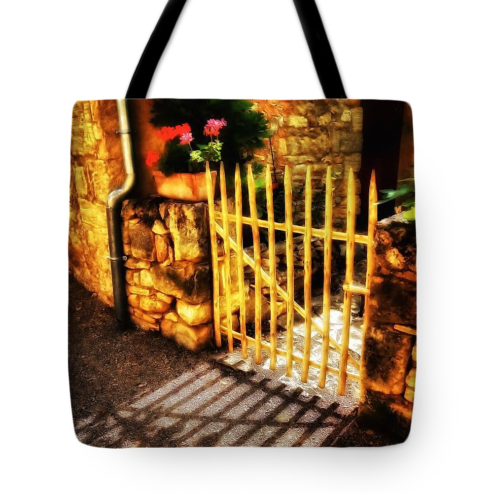 Newel Hunter Tote Bag featuring the photograph Shut by Newel Hunter