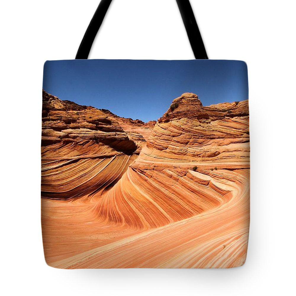 The Wave Tote Bag featuring the photograph Side Wave by Adam Jewell