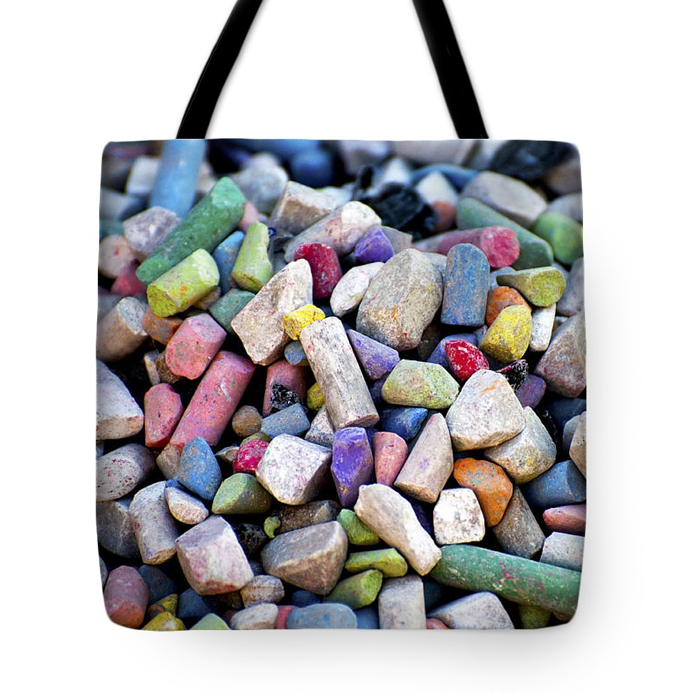 Group Tote Bag featuring the photograph Sidewalk Chalks by Fabrizio Troiani