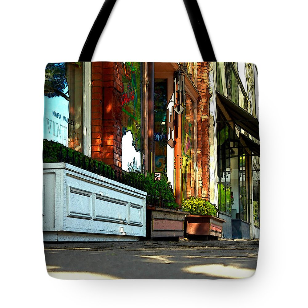 Sidewalk Tote Bag featuring the photograph Sidewalk In Saint Helena by James Eddy