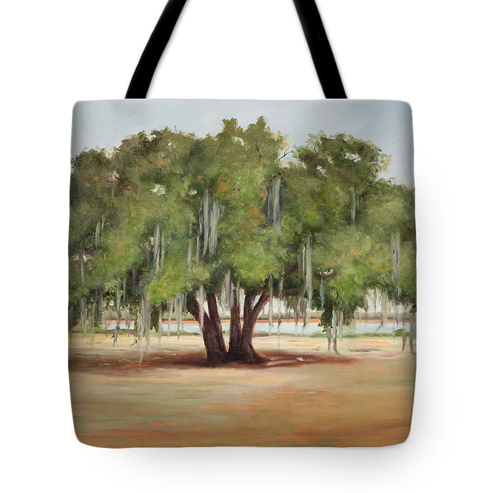 Live Oak Tote Bag featuring the painting Sidney Lanier's Muse by Glenda Cason
