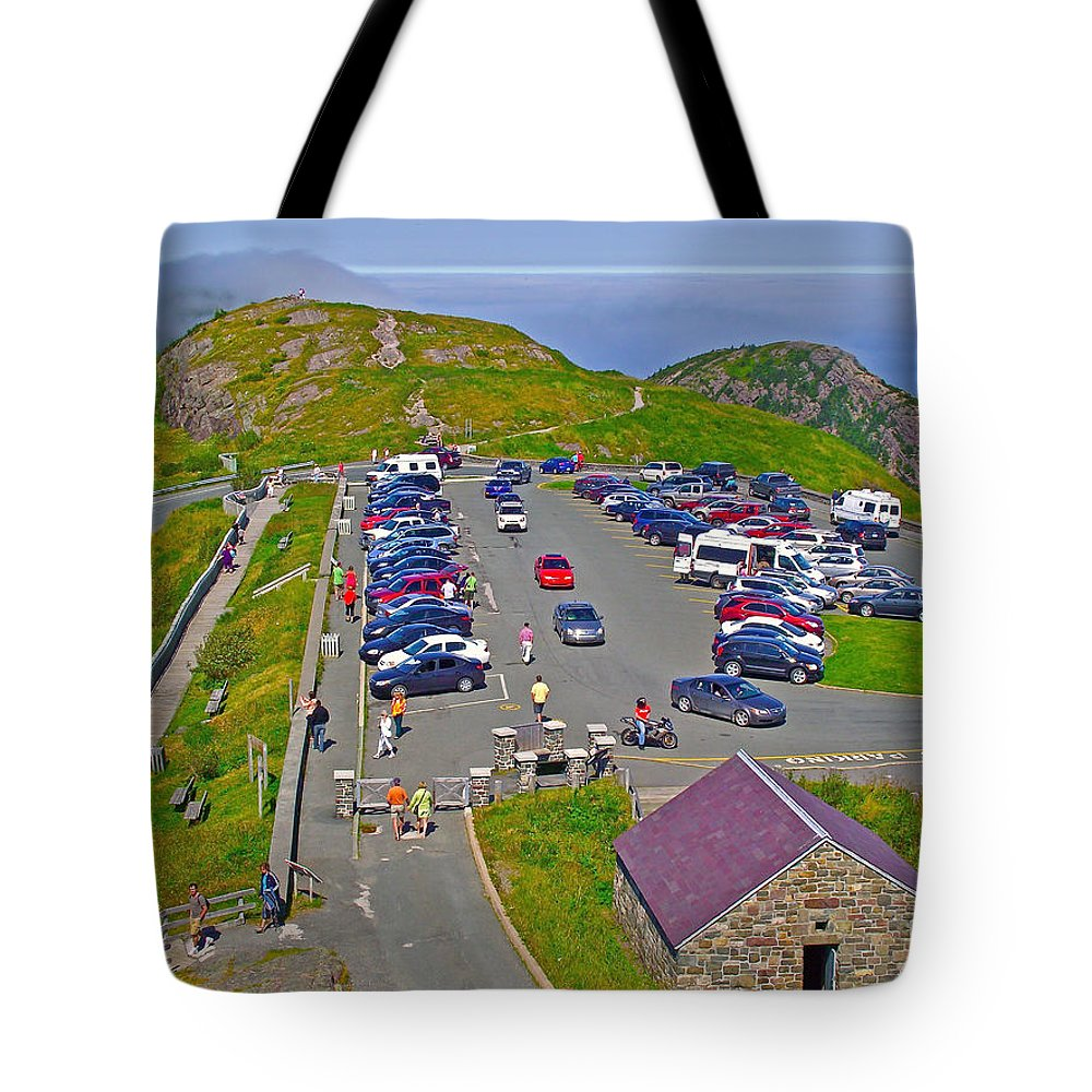 Signal Hill National Historic Site In Saint John's Tote Bag featuring the photograph Signal Hill National Historic Site In Saint John's-nl by Ruth Hager