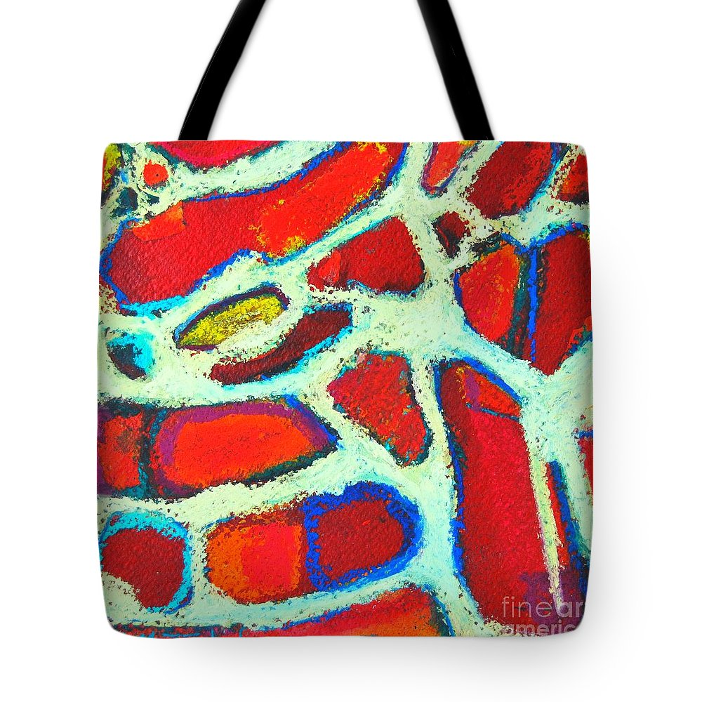Abstract Tote Bag featuring the painting Signs 37 by Ana Maria Edulescu