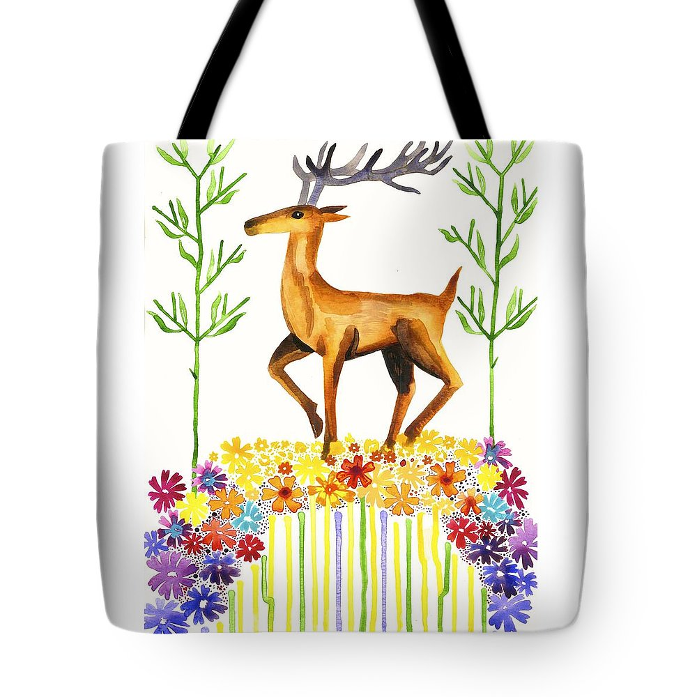 Cat Athena Louise Paintings Tote Bag featuring the painting Signs Of Spring by Catherine Athena Louise