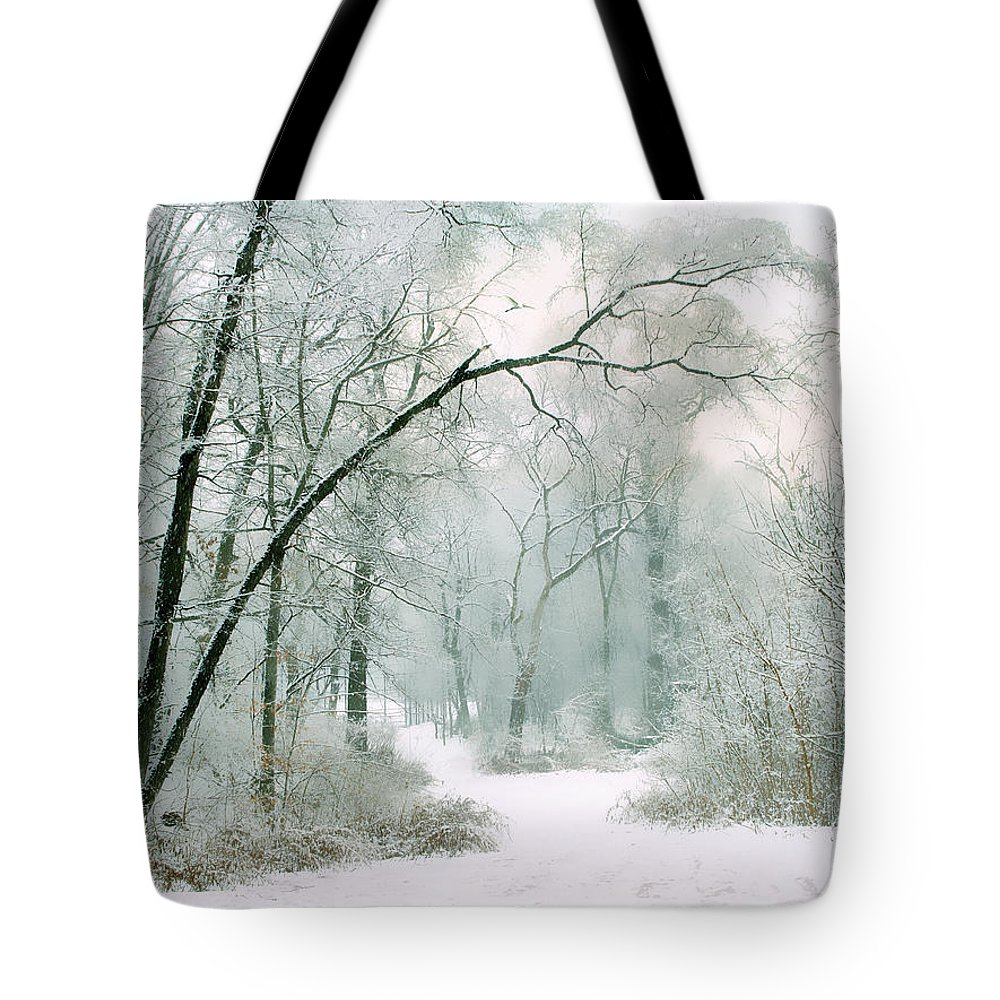 Winter Tote Bag featuring the photograph Silence Of Winter by Jessica Jenney