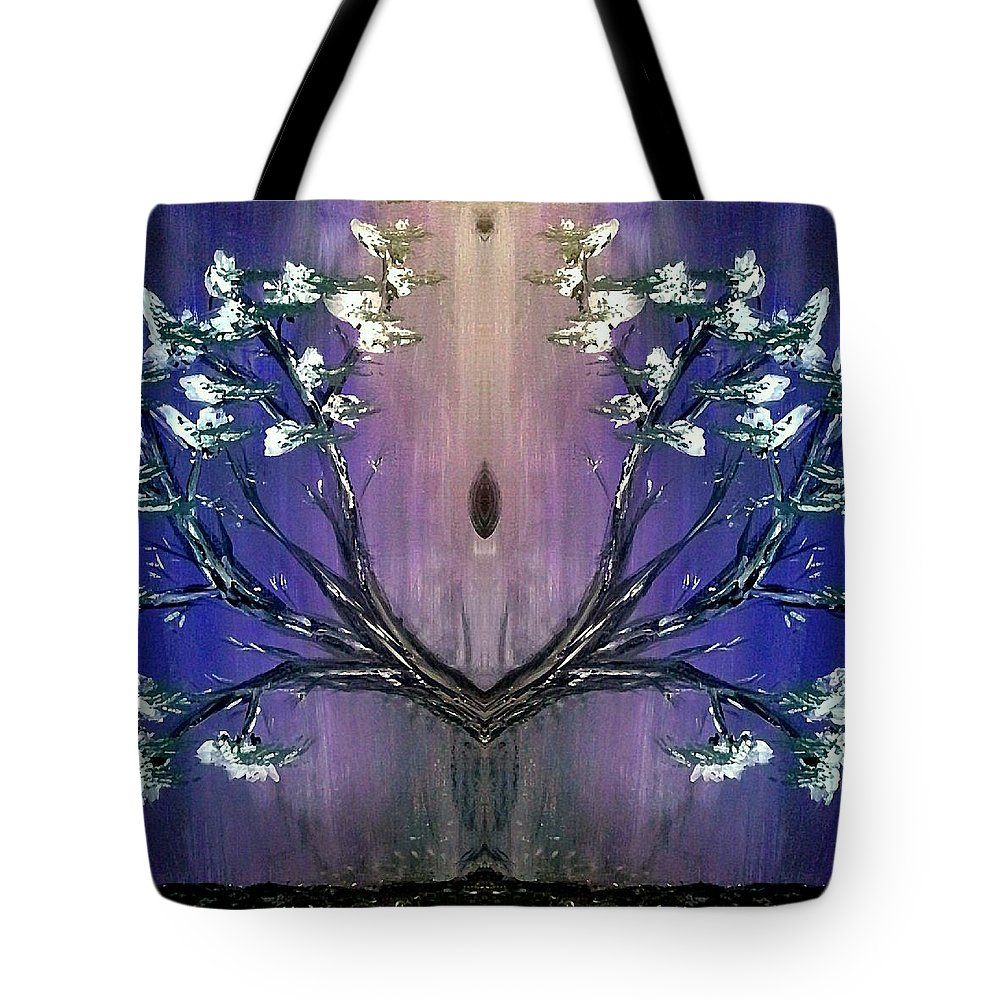 Inspiration Tote Bag featuring the painting Silence by Tina Vaughn