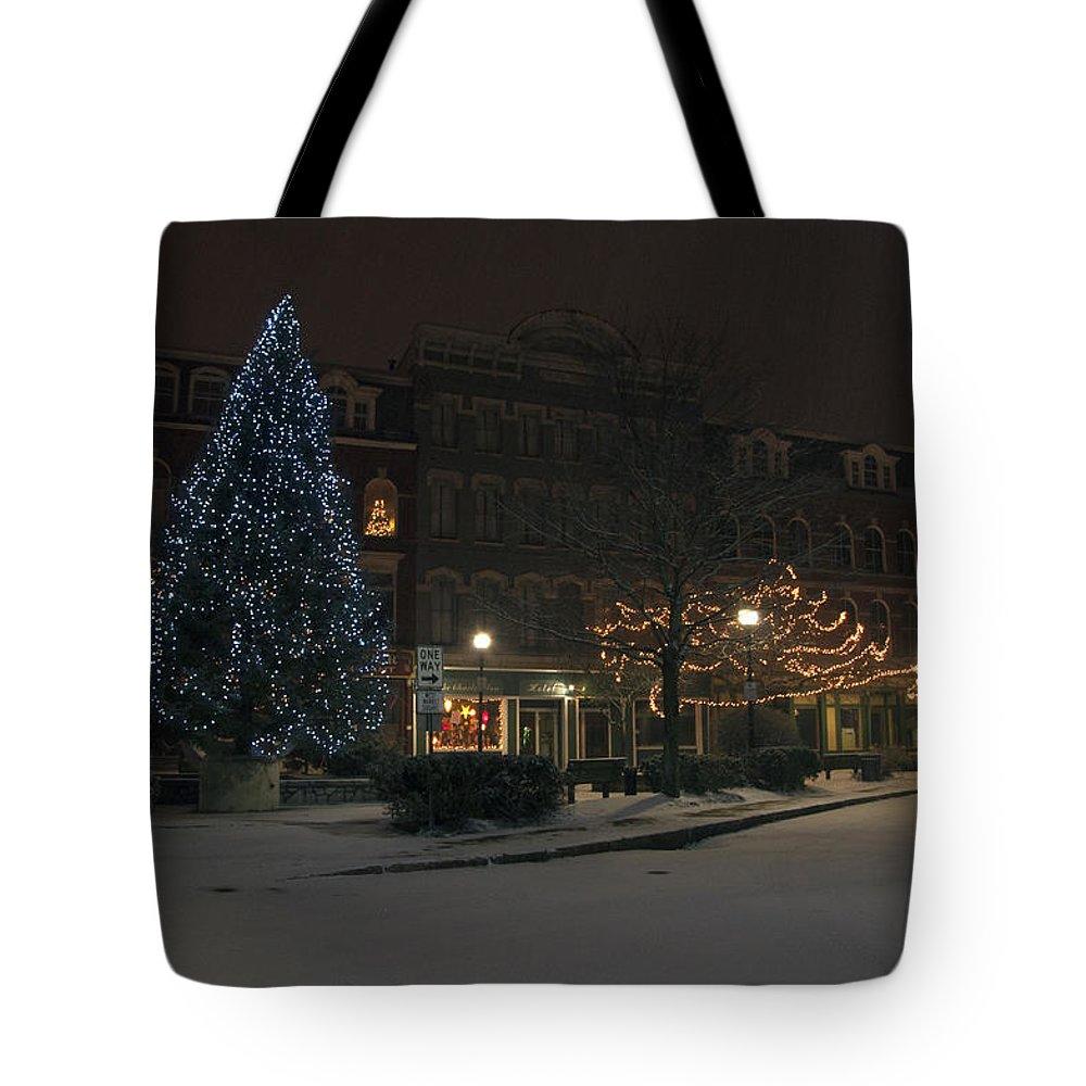Corner Tote Bag featuring the photograph Silent Night Bangor Maine by Glenn Gordon