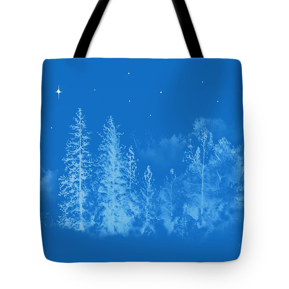 Blue Tote Bag featuring the photograph Silent Night Holy Night by Susan Eileen Evans