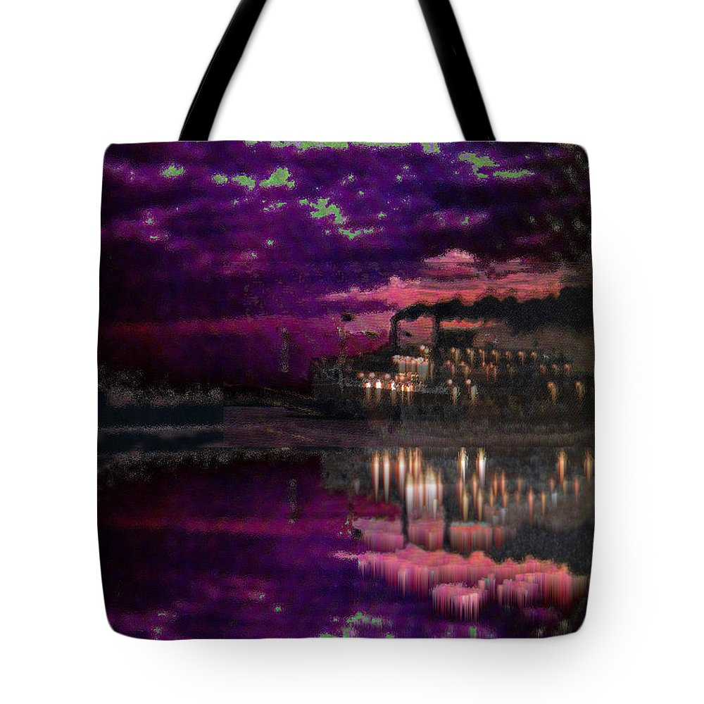 Silent River Tote Bag featuring the digital art Silent River by Seth Weaver