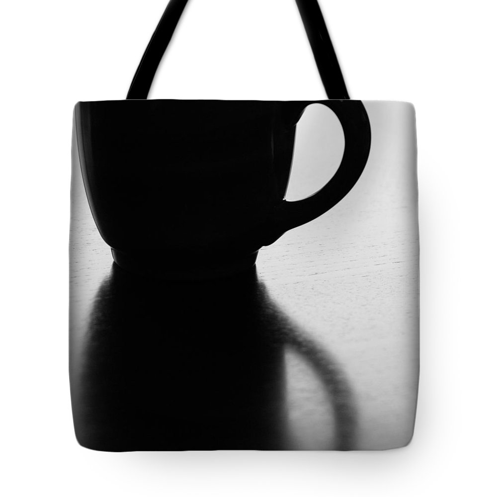 Black And White Tote Bag featuring the photograph Silhouette - Square by Lisa Parrish