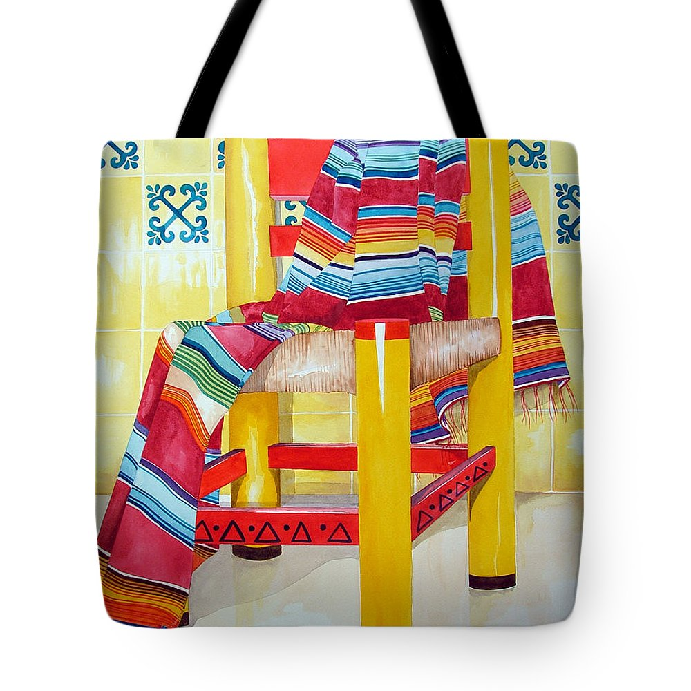 Still Life Painting Tote Bag featuring the painting Silla De La Cocina--kitchen Chair by Kandyce Waltensperger