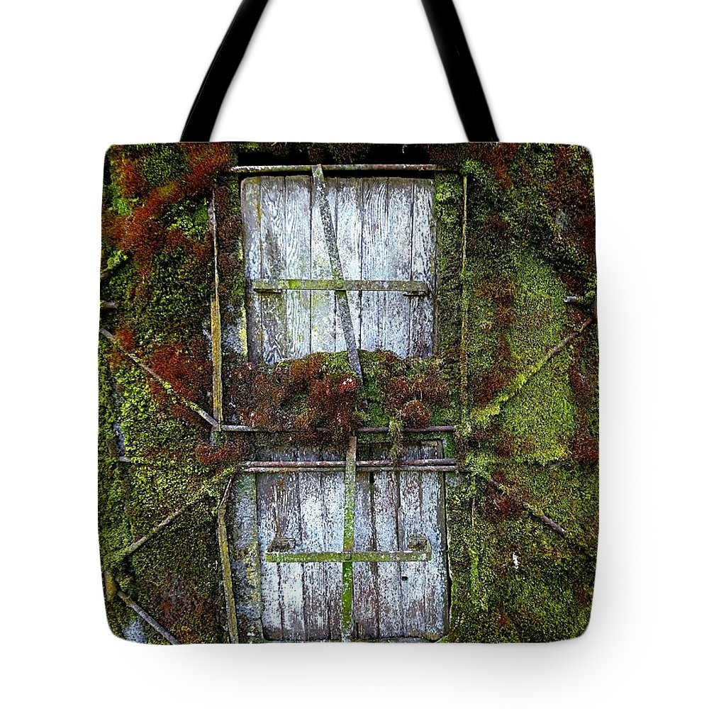 Silo Tote Bag featuring the photograph Silo Doors by Nick Kloepping