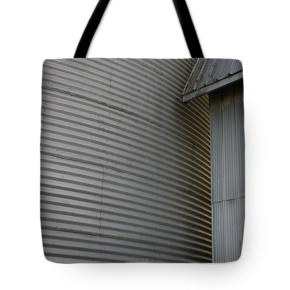 Silo Tote Bag featuring the photograph Silo Structure by Randy Pollard
