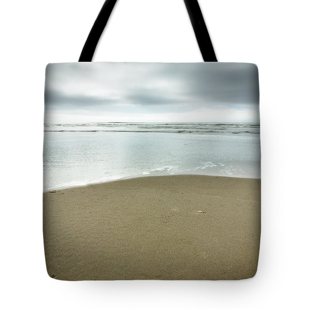 Ocean Tote Bag featuring the photograph Silver Blue Sea by Belinda Greb