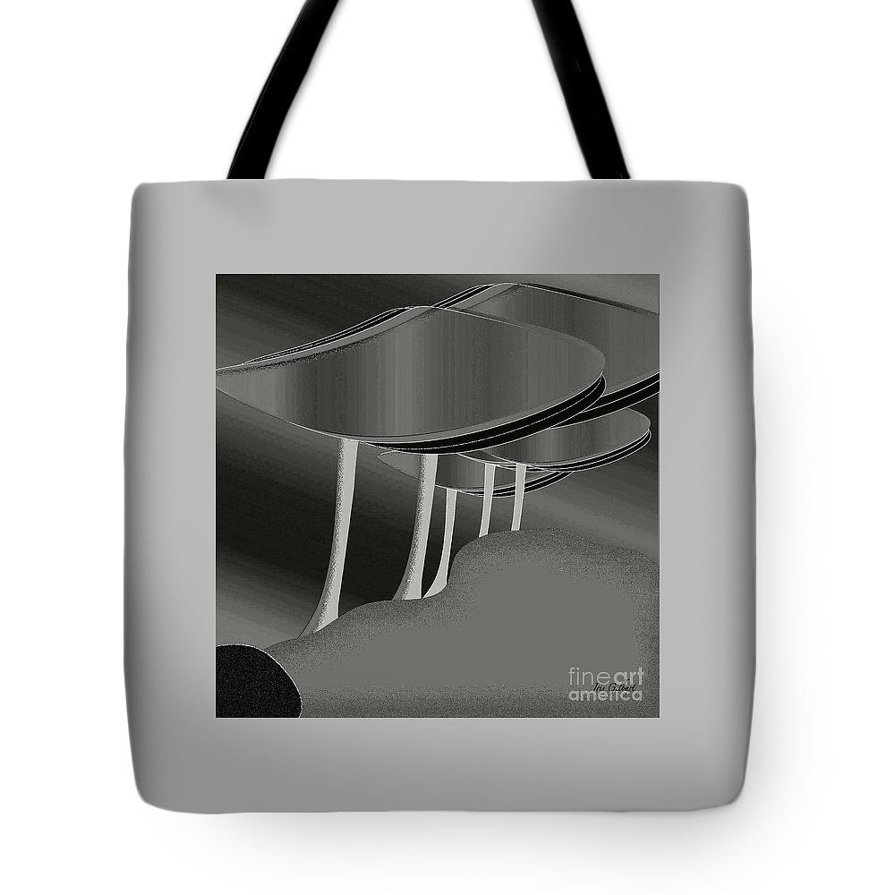 Trees Tote Bag featuring the digital art Silver by Iris Gelbart