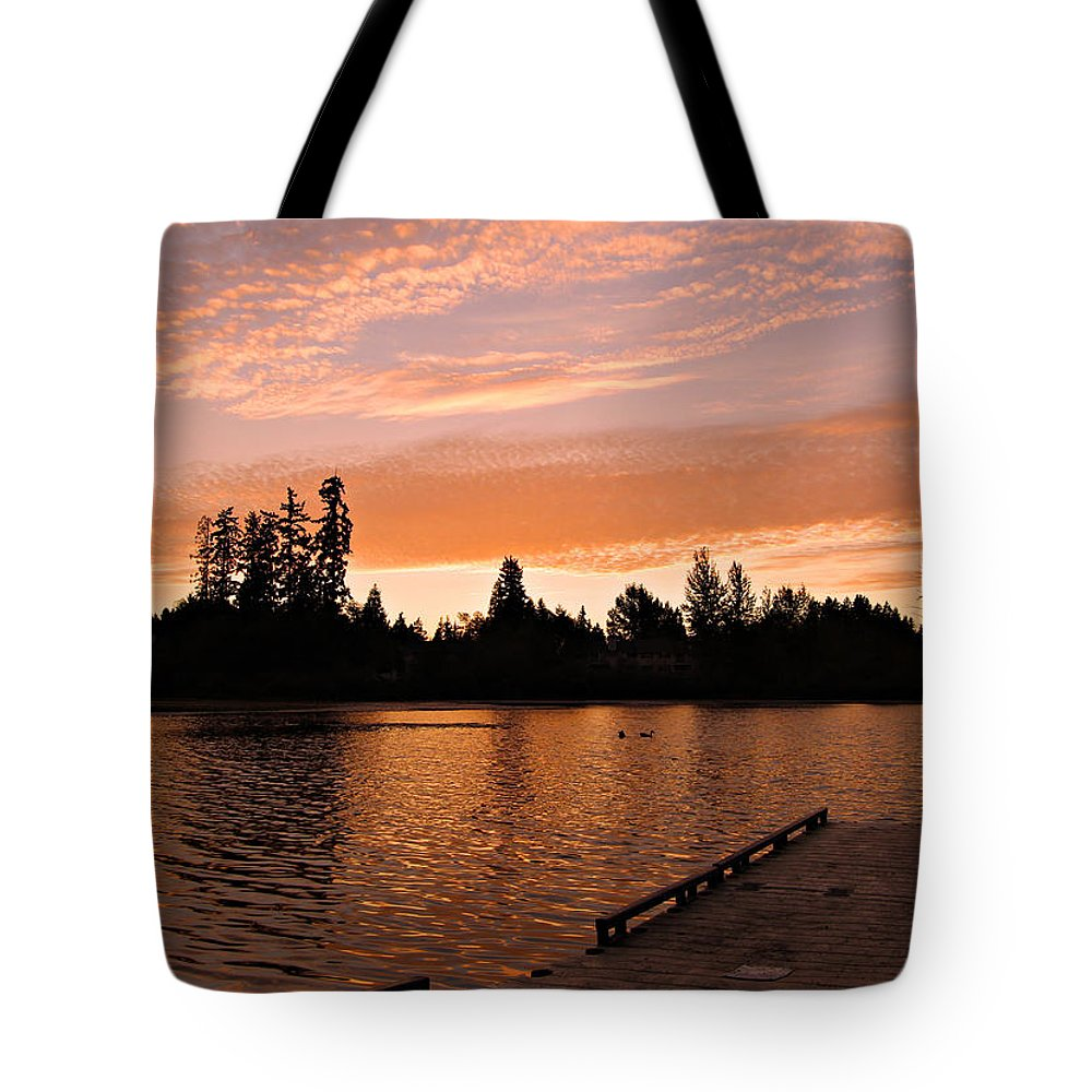 Landscape Tote Bag featuring the photograph Silver Lake Sunset by Paul Fell