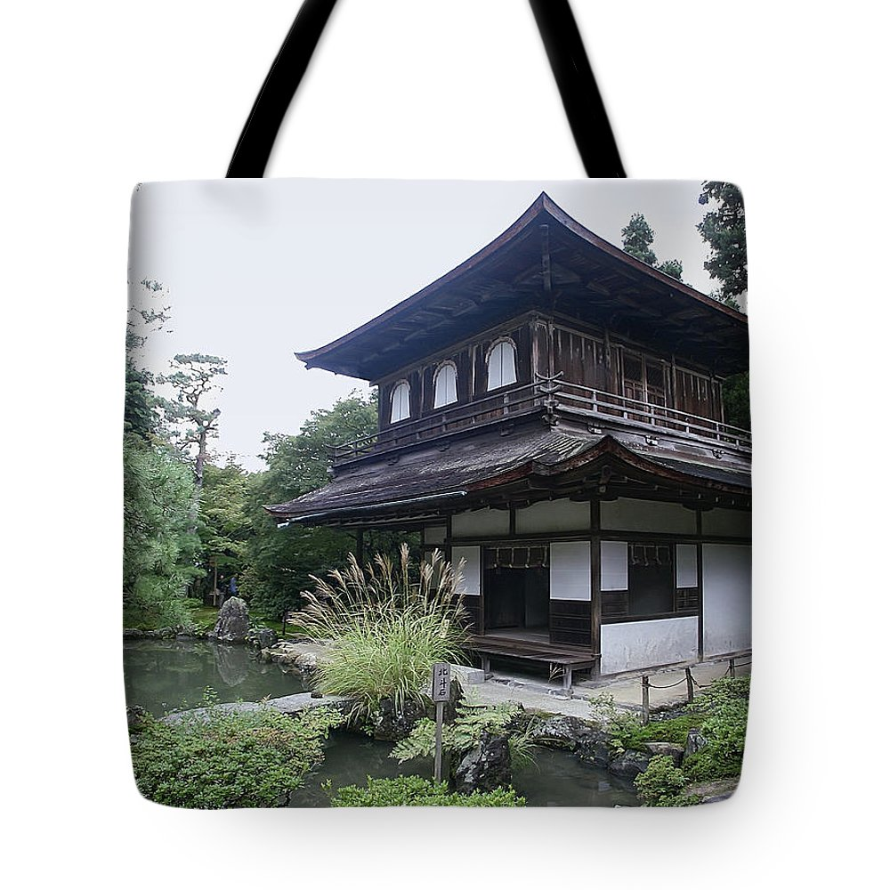 silver Pavilion Tote Bag featuring the photograph Silver Pavilion - Kyoto Japan by Daniel Hagerman