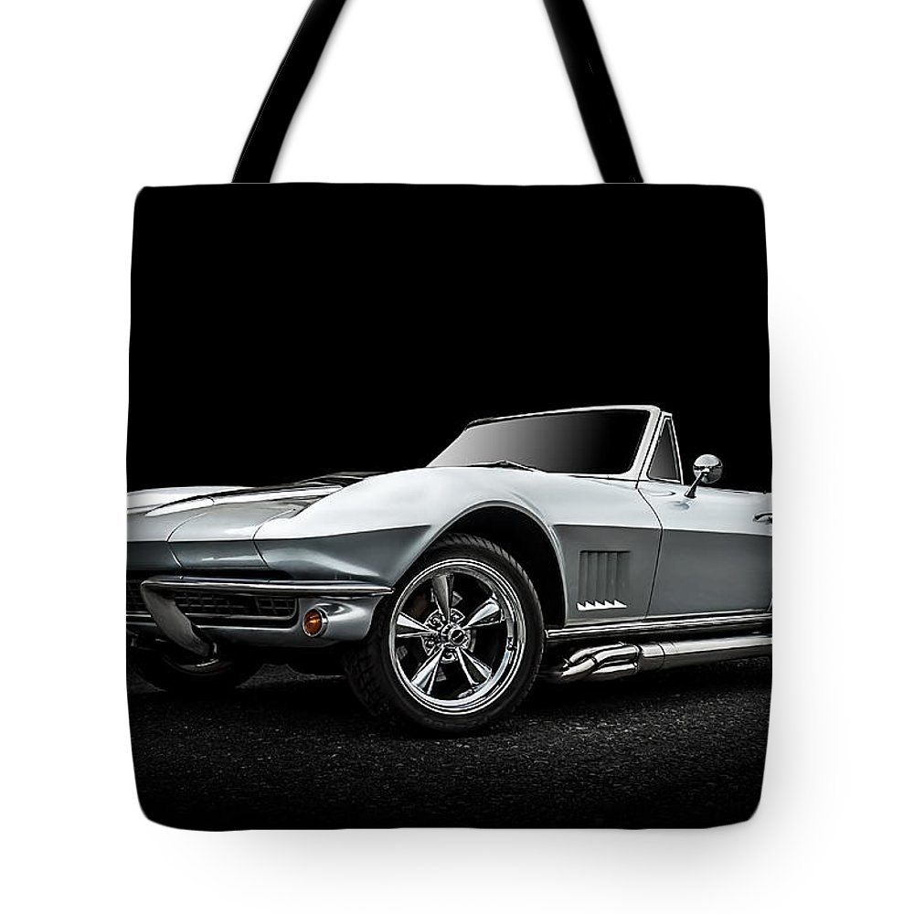 Corvette Tote Bag featuring the digital art Silversmith by Douglas Pittman