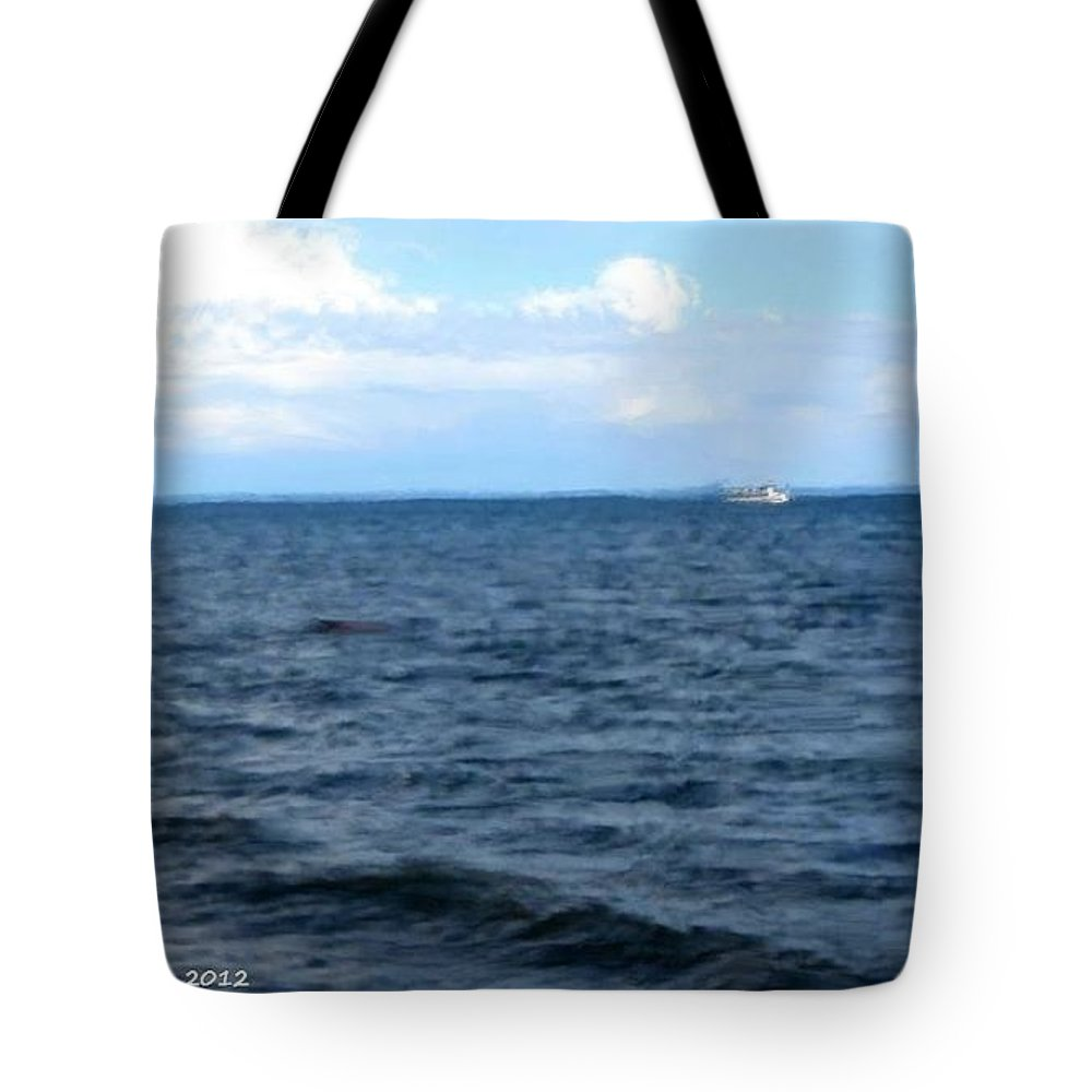 Ocean Tote Bag featuring the painting Silvias Ocean View by Bruce Nutting