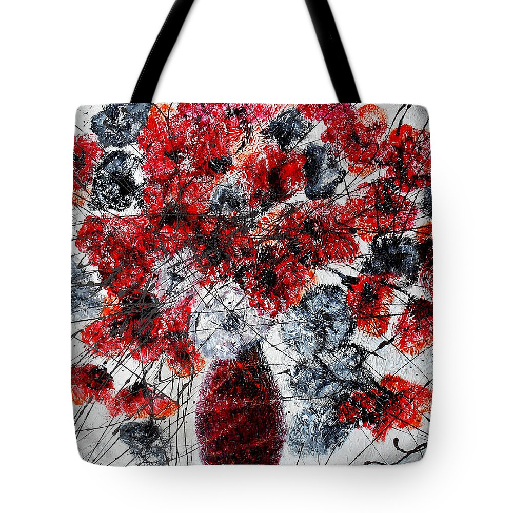 Flowers  Tote Bag featuring the painting Simfoni Of Love by Leon Zernitsky