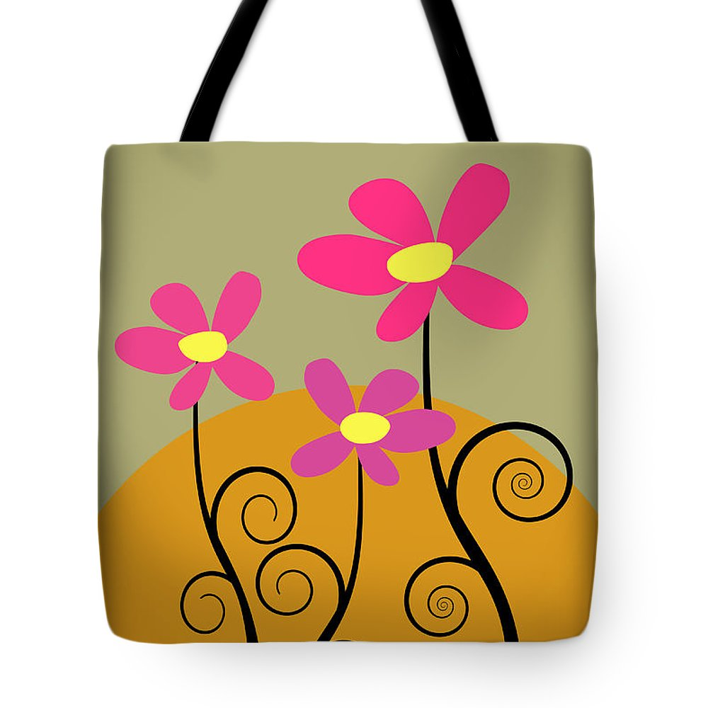 An Illustration Of 3 Flowers. Tote Bag featuring the photograph Simply Flowers by Sharon Dominick