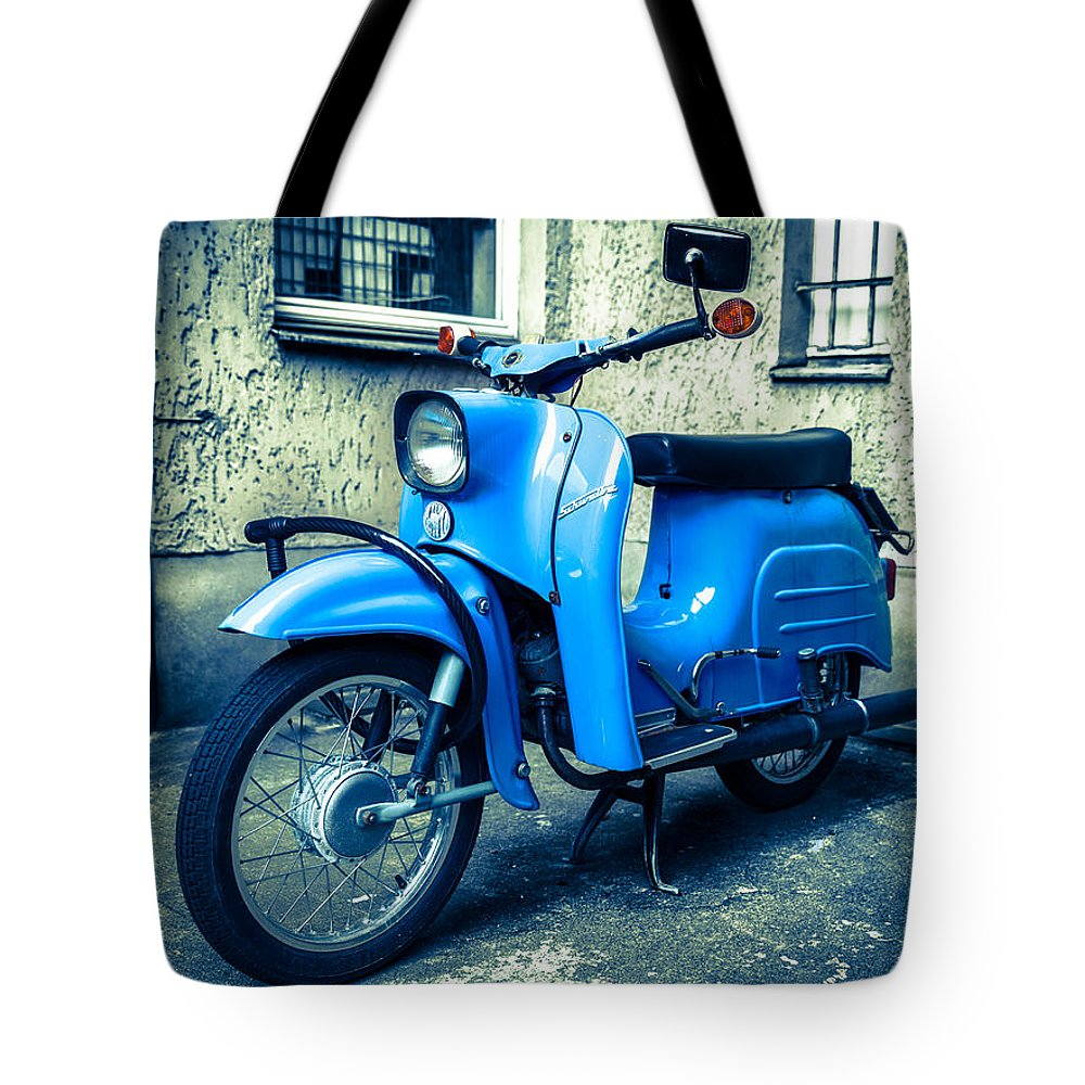 Blue Tote Bag featuring the photograph Simson Schwalbe Kr51 by Semmick Photo