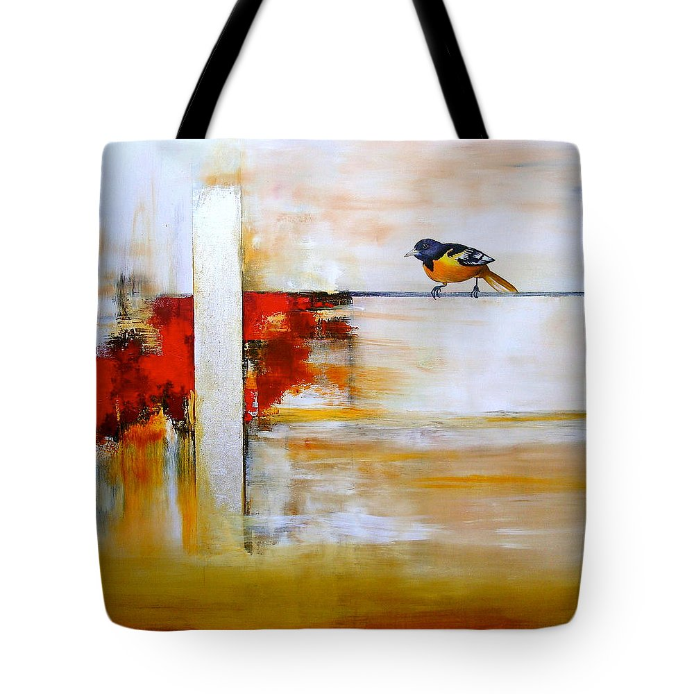 Birds Tote Bag featuring the painting Sin Entender by Thelma Zambrano