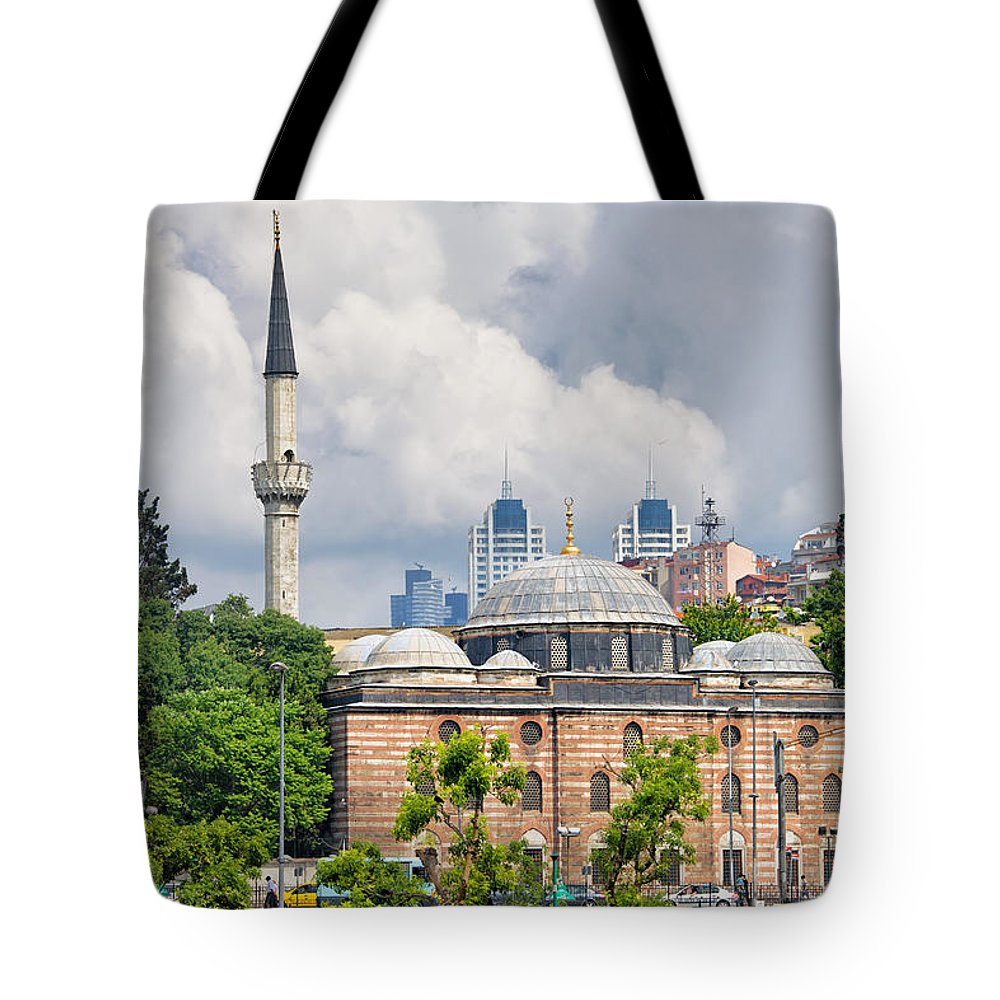 Sinan Tote Bag featuring the photograph Sinan Pasha Mosque In Istanbul by Artur Bogacki