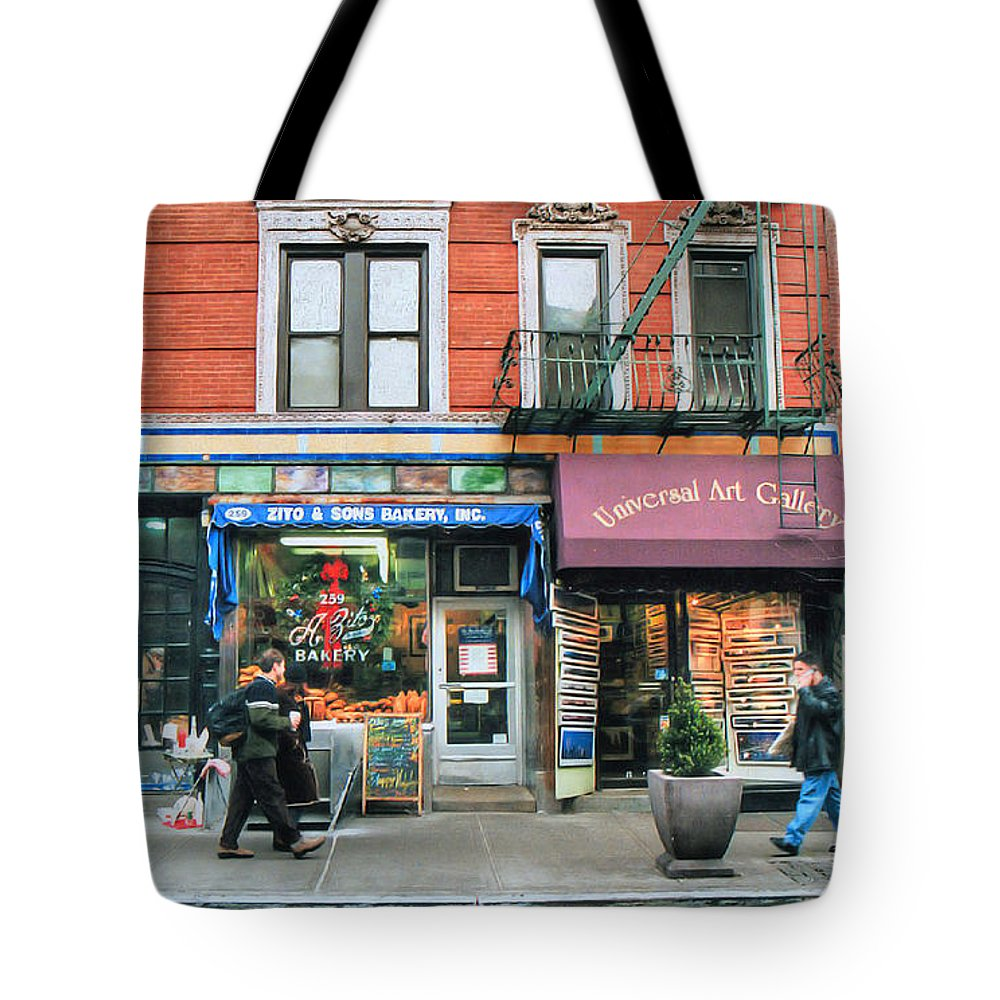 Bakery Tote Bag featuring the photograph 259 Bleecker Street by Dyle  Warren