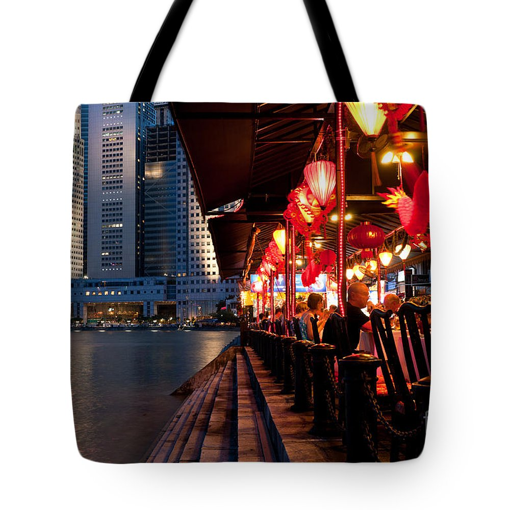Singapore Tote Bag featuring the photograph Singapore Boat Quay 03 by Rick Piper Photography
