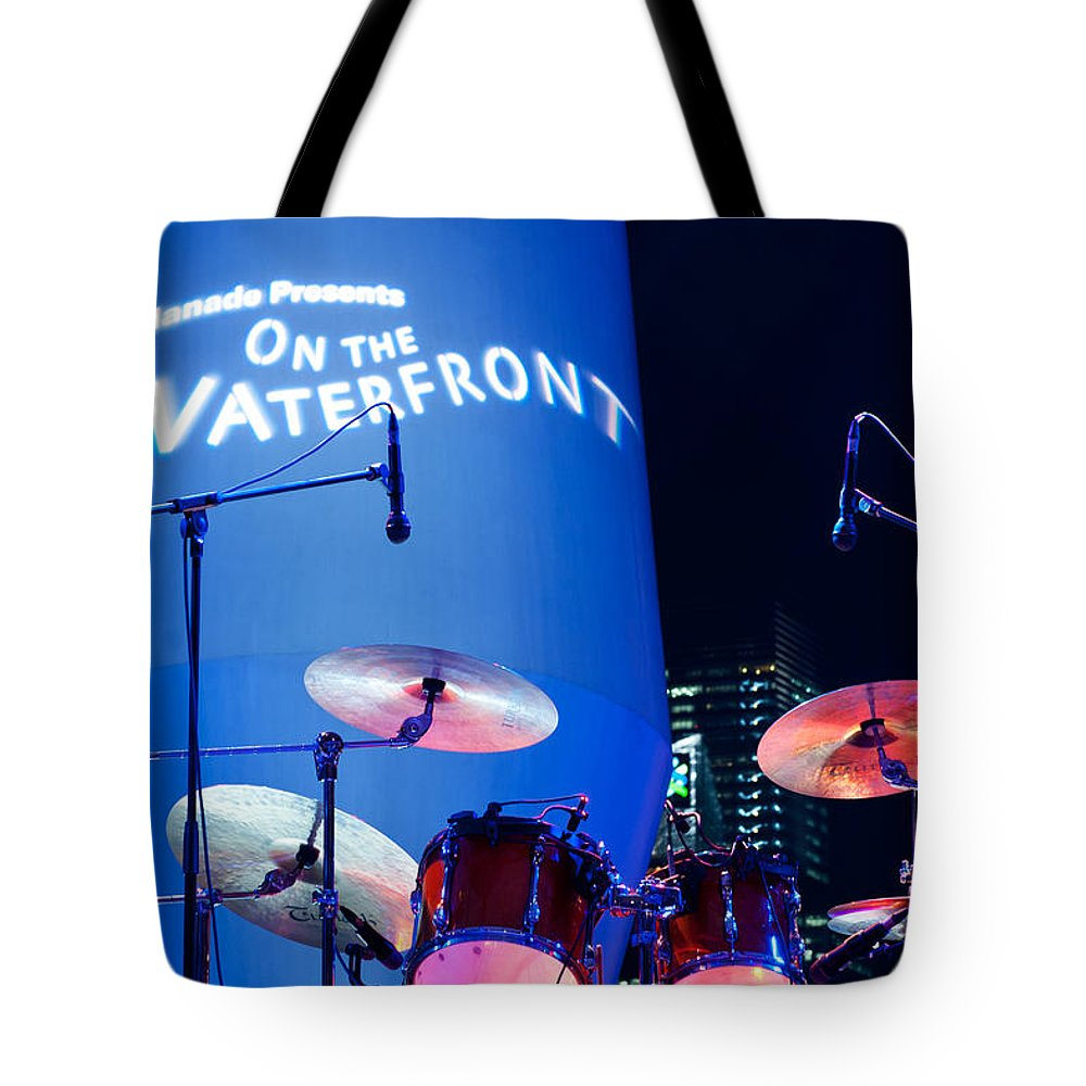 Singapore Tote Bag featuring the photograph Singapore Drum Set 03 by Rick Piper Photography
