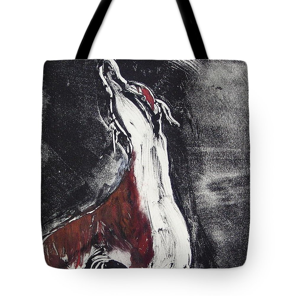 Framed Tote Bag featuring the mixed media Singing For Joy by Cori Solomon