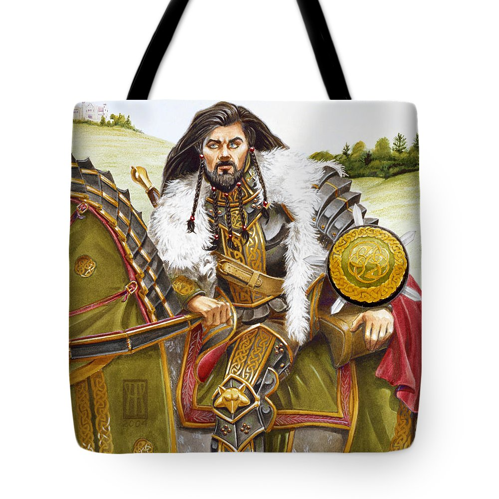 Fine Art Tote Bag featuring the painting Sir Marhaus by Melissa A Benson