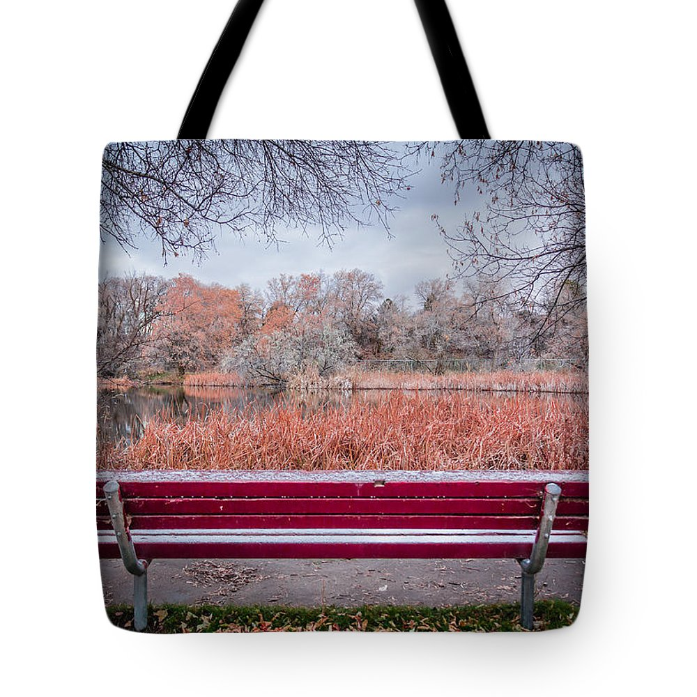 Gigimarie Tote Bag featuring the photograph Sit With Me by Gina Herbert