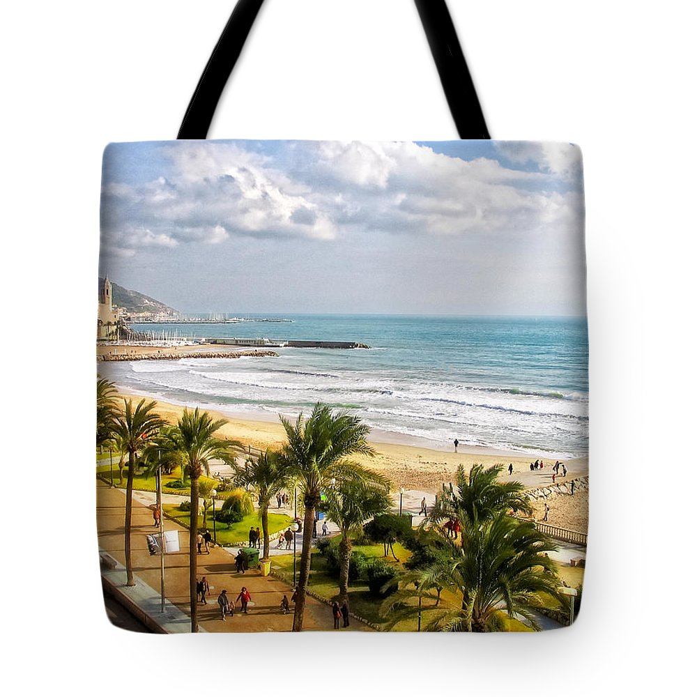 Mediterranean Tote Bag featuring the photograph Sitges Spain On The Mediterranean Coast by Lars Lentz
